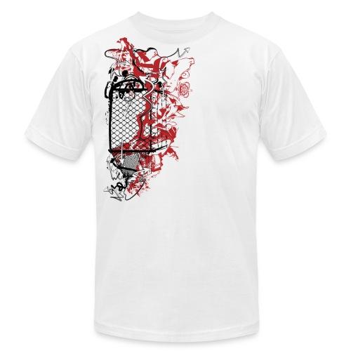 Graffiti Fence Designer T-shirt - Men's Fine Jersey T-Shirt