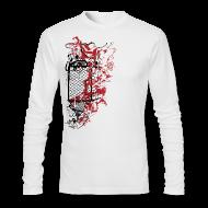 Long Sleeve Shirts ~ Men's Long Sleeve T-Shirt by American Apparel ~ Graffiti Fence Designer T-shirt