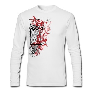 Graffiti Fence Designer T-shirt - Men's Long Sleeve T-Shirt by Next Level