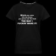 Women's T-Shirts ~ Women's V-Neck T-Shirt ~ Bitch - Womens