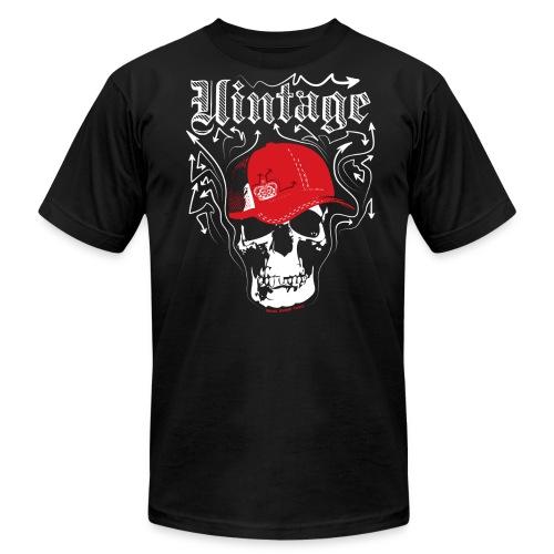 Cool Vintage Skull Cap Designer Tee - Men's  Jersey T-Shirt