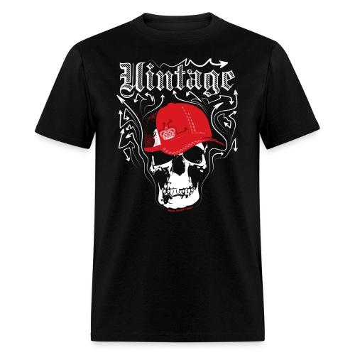 Cool Vintage Skull Cap Designer Tee - Men's T-Shirt