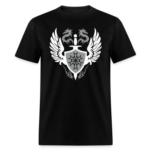 Silver Dragon Crest Designer Tee - Men's T-Shirt