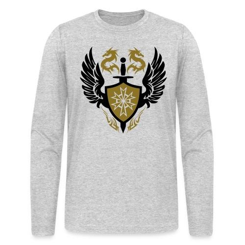 Golden Dragon Crest Designer Tee - Men's Long Sleeve T-Shirt by Next Level