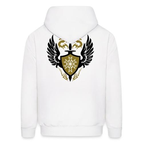 Golden Dragon Crest Designer Tee - Men's Hoodie