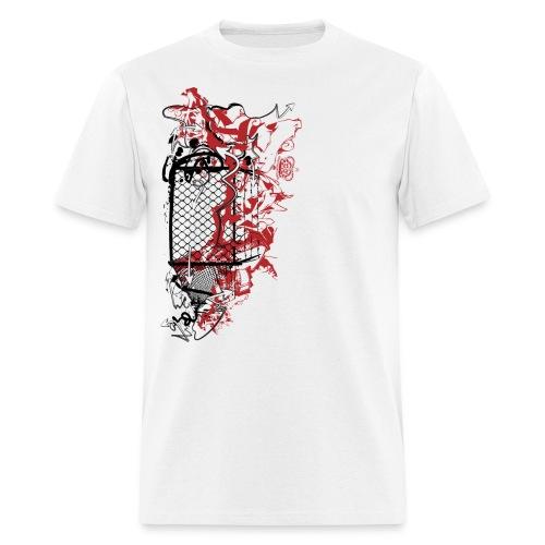 Graffiti Fence Designer T-shirt - Men's T-Shirt