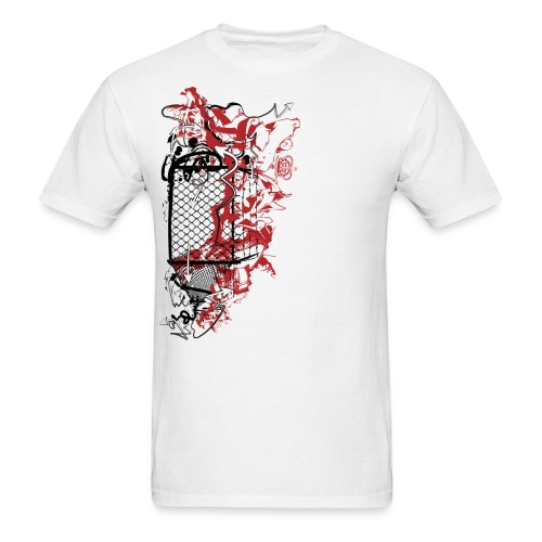 Graffiti Fence Designer T-shirt - Men's T-Shirt