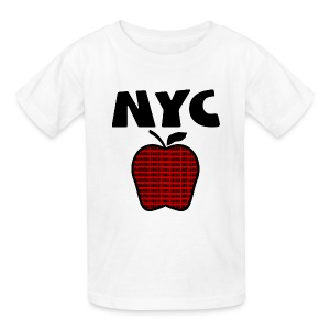 KKT 'NYC, Big Apple With Boroughs, DIGITAL DIRECT' Kids' Tee, White - Kids' T-Shirt