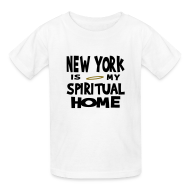 Kids' Shirts ~ Kids' T-Shirt ~ KKT 'New York, Spiritual Home' Kids' Tee, White