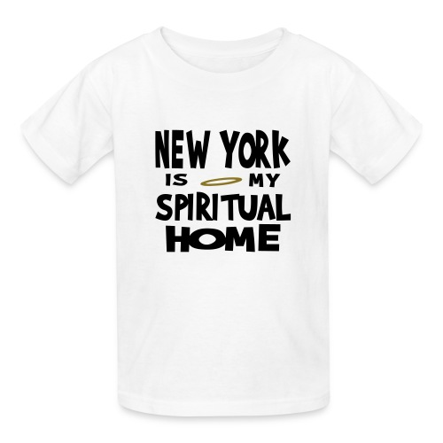 KKT 'New York, Spiritual Home' Kids' Tee, White - Kids' T-Shirt