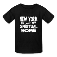 Kids' Shirts ~ Kids' T-Shirt ~ KKT 'New York, Spiritual Home' Kids' Tee, Black