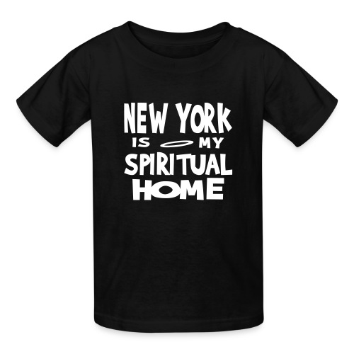 KKT 'New York, Spiritual Home' Kids' Tee, Black - Kids' T-Shirt