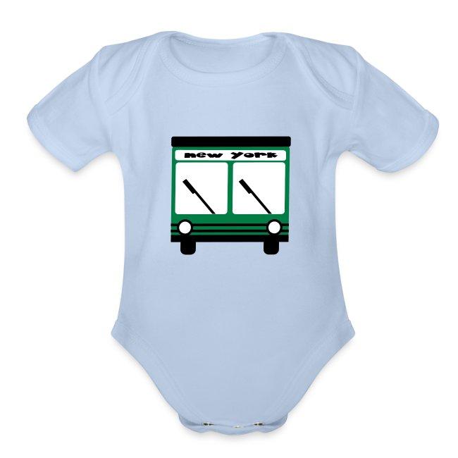 KKT 'NY Hybrid Bus, Green' Baby SS One Piece Tee, Mint Green