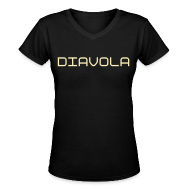 T-Shirts ~ Women's V-Neck T-Shirt ~ Diavola