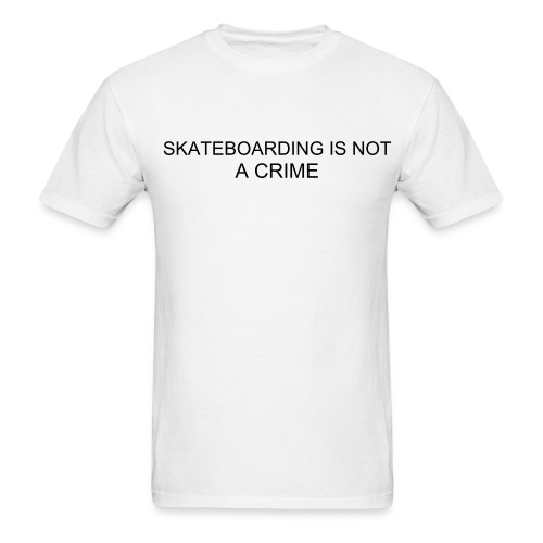 Skateboarding is not a crime - Men's T-Shirt