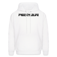 Hoodies ~ Men's Hoodie ~ Men's Hooded Sweatshirt/Black Lettering