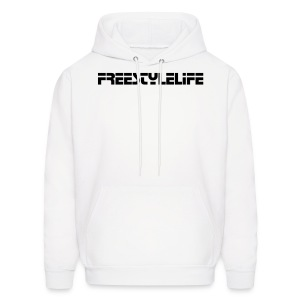 Men's Hooded Sweatshirt/Black Lettering - Men's Hoodie