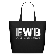 Bags & backpacks ~ Eco-Friendly Cotton Tote ~ New Bedford airport code EWB black tote / beach bag