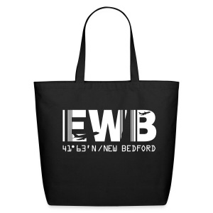 New Bedford airport code EWB black tote / beach bag - Eco-Friendly Cotton Tote