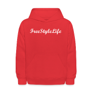 Sweatshirts ~ Kids' Hoodie ~ Kid's Red Hooded Sweatshirt