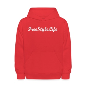 Kid's Red Hooded Sweatshirt - Kids' Hoodie