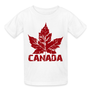Kid's Cool Canada Souvenir T-shirt Maple Leaf Kid's T-shirt - Kids' T-Shirt