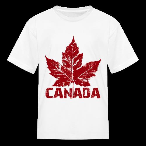 Kid's Cool Canada Souvenir T-shirt Maple Leaf Kid's T-shirt - Kids' T-Shirt