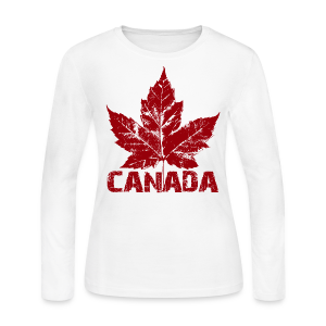 Cool Canada Souvenir Womens Long Sleeve Jersey T-shirt - Women's Long Sleeve Jersey T-Shirt