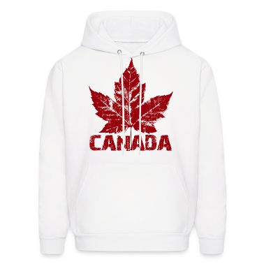 Cool Canada Souvenir Hoodie Maple Leaf Design