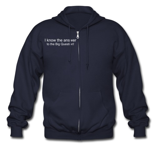 The Big Question - Men's Zip Hoodie
