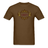 T-Shirts ~ Men's T-Shirt ~ OBEY TRIBAL CHOCOLATE TEE