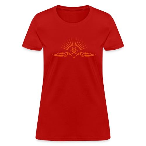Metallic Orange Tribal T-Shirt - Women's T-Shirt