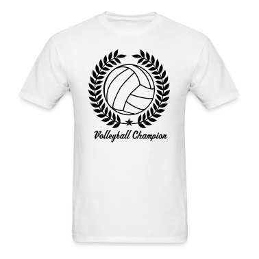White Cool Vintage Volleyball for Teams T-Shirts