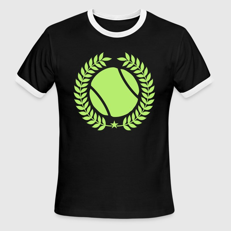 Green/white Cool tennis Designs T-Shirts - Men's Ringer T-Shirt