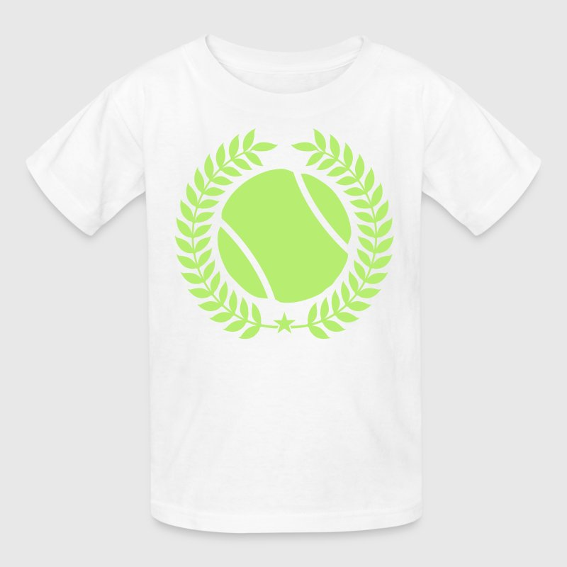 White Cool tennis Designs Kids' Shirts - Kids' T-Shirt