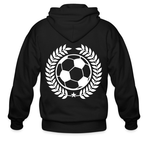Soccer Champions Custom Text Team Apparel - Men's Zip Hoodie