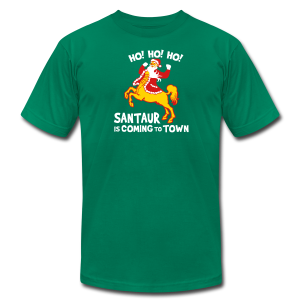 Santaur is Coming to Town Christmas Tee - Men's T-Shirt by American Apparel