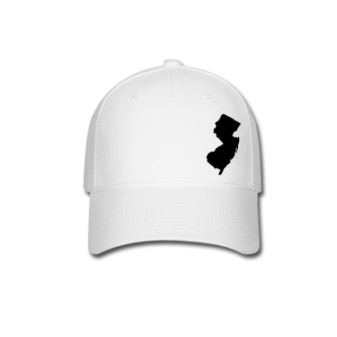 White New Jersey Silhouette  Caps