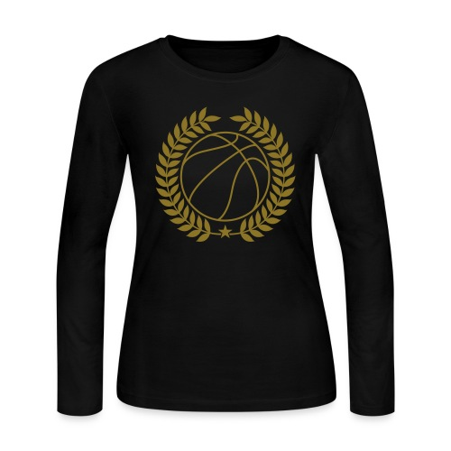 Reflective Gold Basketball Team Champions - Women's Long Sleeve Jersey T-Shirt
