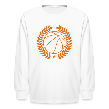 White Basketball Kids' Shirts
