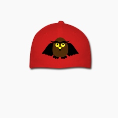 Red owl with wings cute Caps