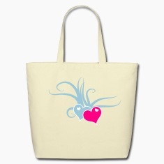 Creme love hearts with whips romance Bags