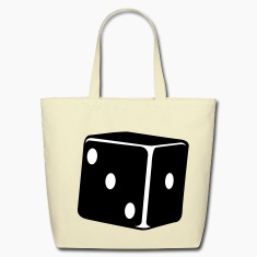 Creme lucky dice single die Bags