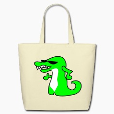 Creme smiling crocodile with sunglasses thumbs up Bags