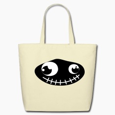 Creme rock monster Bags