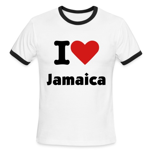 I love Jamaica - Men's Ringer T-Shirt