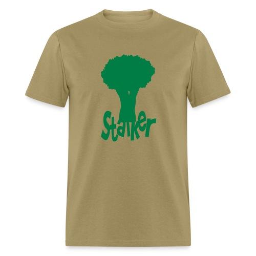 WUBT 'Stalker With Broccoli' Men's Standard Tee, Khaki - Men's T-Shirt