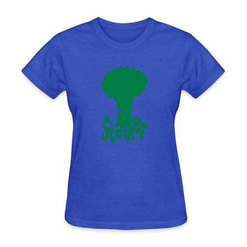 WUBT 'Stalker With Broccoli' Women's Standard Tee, Lt Blue - Women's T-Shirt