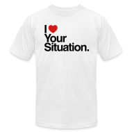 T-Shirts ~ Men's T-Shirt by American Apparel ~ The Situation Mens AA White