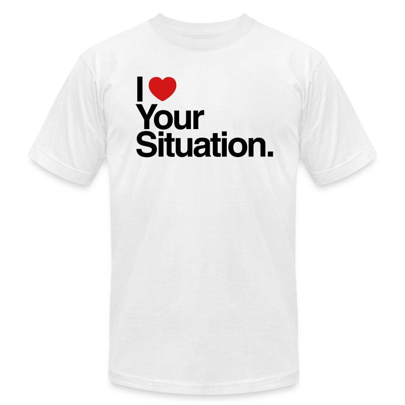 The Situation Mens AA White - Men's Fine Jersey T-Shirt